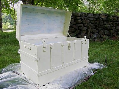 Painting and restoring an old trunk. I got an old trunk from a friend and this gives me an idea of how to restore it. Excited to get started