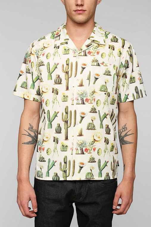 Brixton Vern Cactus Button Down Shirt Fashion M Cactus Shirt