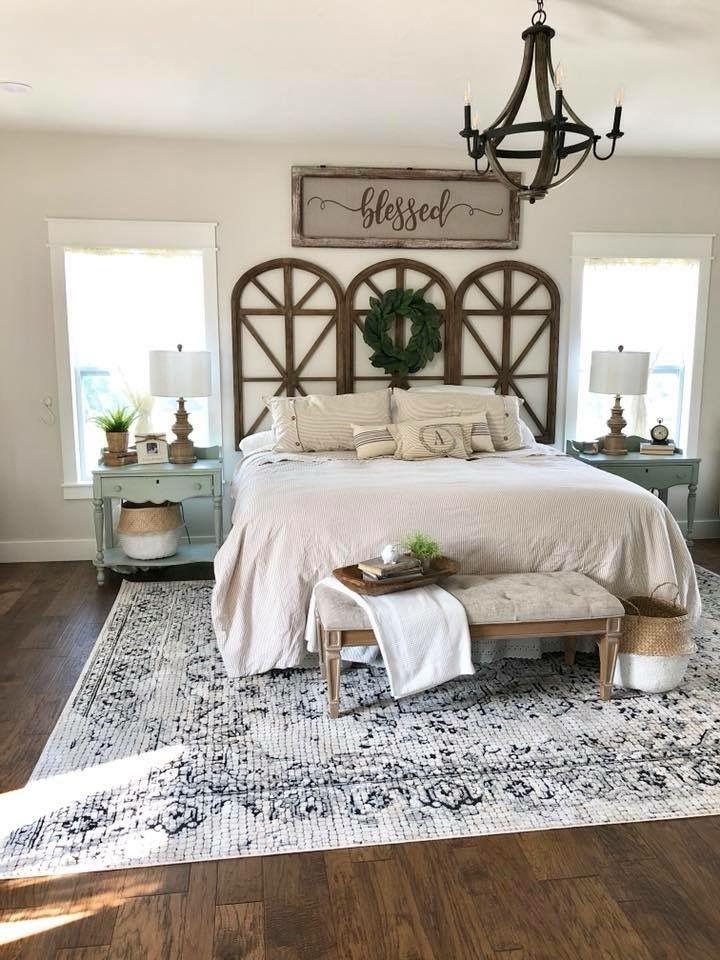 Master Bedroom Decorating Ideas 2019 In 2020 Remodel Bedroom Farmhouse Bedroom Decor Farmhouse Master Bedroom