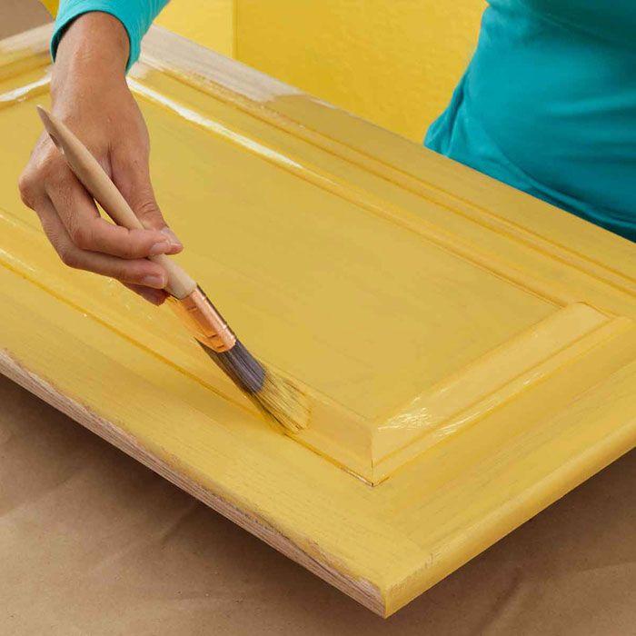 Update Kitchen Cabinet Doors: Paint Cabinet Door Base Color