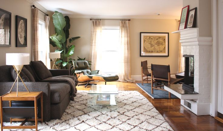 Designer Spotlight: A Conversation with Designer Shannon Tate-Giordano | Interior Design by Shannon Tate-Giordano | Photography by Shannon Tate-Giordano | Modern Sanctuary | Living Space | Living Room Inspiration | Fireplace Inspiration | Seating | Modern Seating