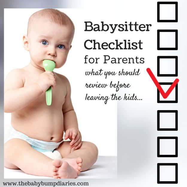 Babysitter Checklist for Parents.