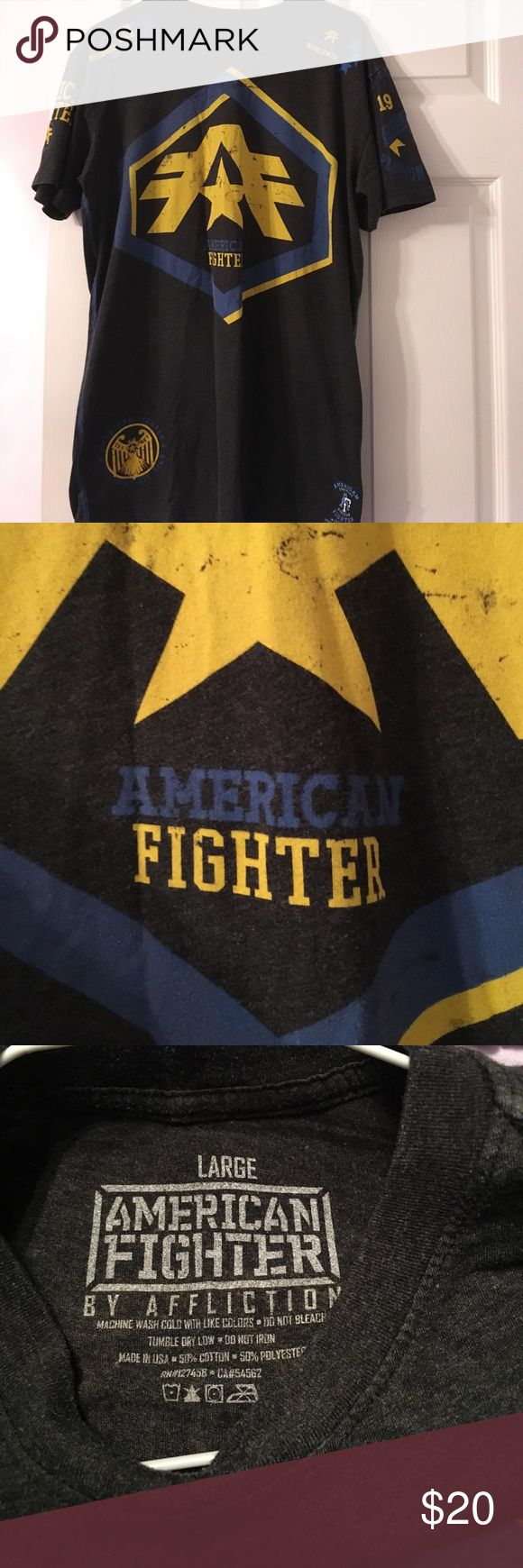 American fighter size large American fighter size large t shirt excellent condition American Fighter Shirts Tees - Short Sleeve