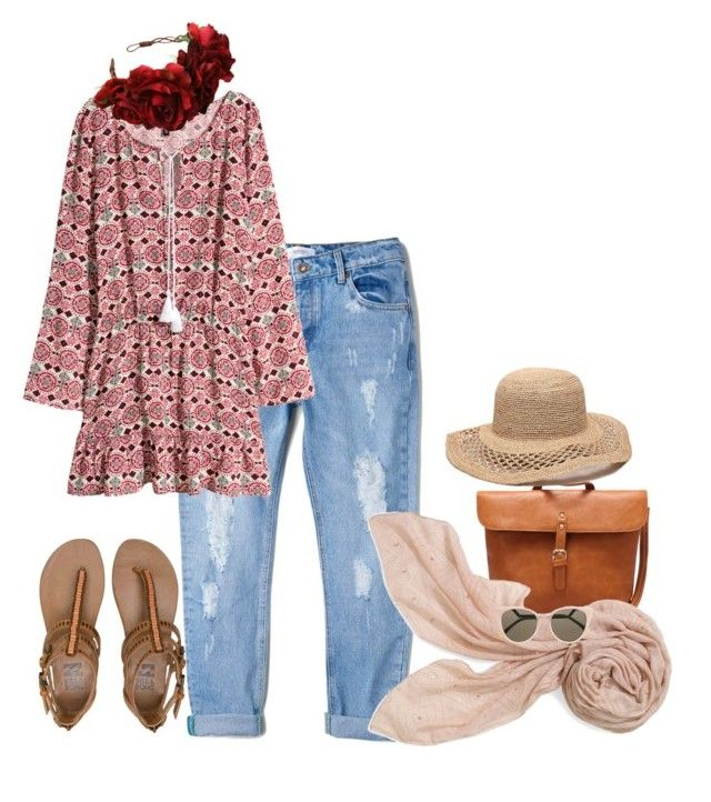 verano by claudia-farace on Polyvore featuring H&M, MANGO, Billabong, Stella & Dot, Gottex and Fendi