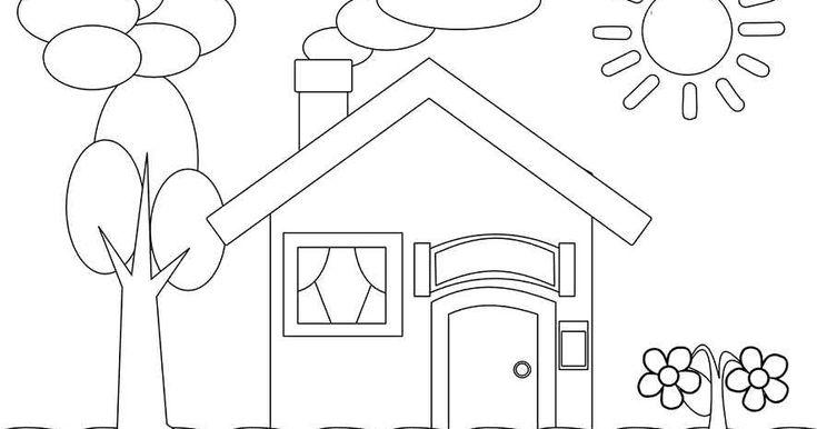 Aneka Gambar Mewarnai Mewarnai Gambar Rumah Untuk Anak Gambar