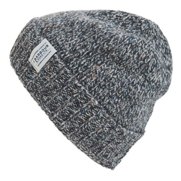 Men's Barbour Whitfield Beanie ($49) ❤ liked on Polyvore featuring men's fashion, men's accessories, men's hats, grey, mens beanie hats, mens beanie, mens grey beanie and mens beanie caps