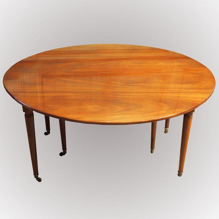 Table de salle à manger en acajou de Cuba Antiquité du 18ème siècle
