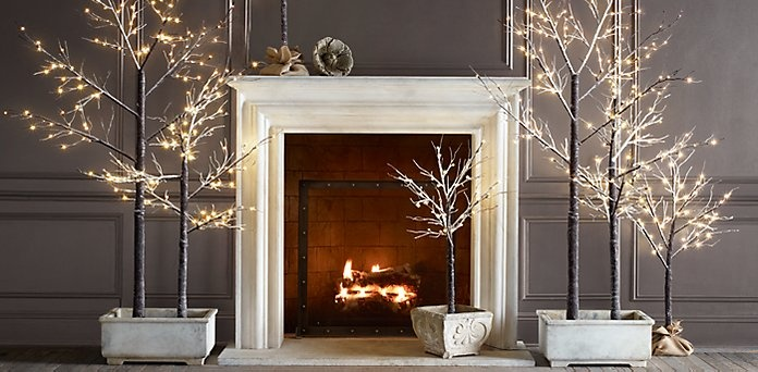 Winter Wonderland Trees Restoration Hardware White