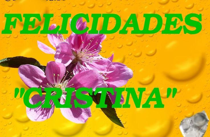 MUCHISIMAS FELICIDADES A TODAS LAS CRISTINAS.  #Cristinas #FelizViernes #FelizFinDeSemana  https://www.cuarzotarot.es/