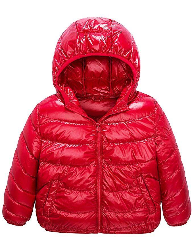 fe7523293 Boys   Girls Ultra Light Down Packable Hooded Coat