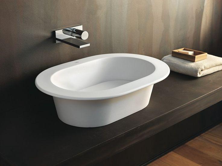 Lavabo da appoggio in ceramica AMEDEO Collezione Karim by Ceramica Cielo | design Karim Rashid
