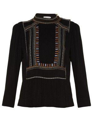 Cerza embroidered crepe top | Isabel Marant Étoile | MATCHESFASHION.COM US