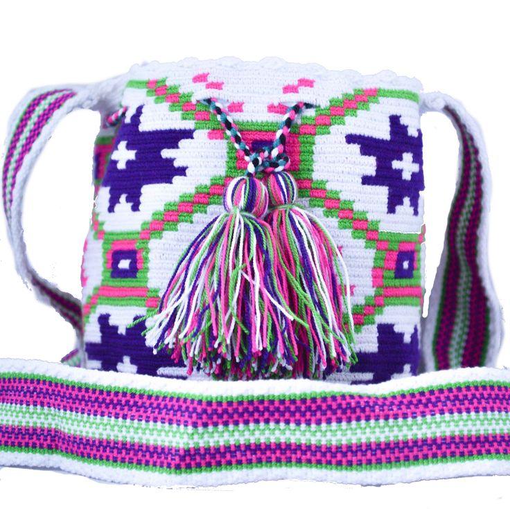 Wayuu Bag – Mini Mochila – Premium – 056  $70  #wayuu #wayuumochila #wayuubag #wayuumochilabags #products #minibag #minimochila #mini #bohohobo #handmade  https://wayuu-mochila-bags.com/shop/premium-wayuu-bags/finest-single-thread-authentic-wayuu-mini-mochila-bag-colombian-boho-hobo-056/