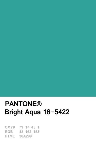 Pantone Colour of The Day June 23 Bright Aqua