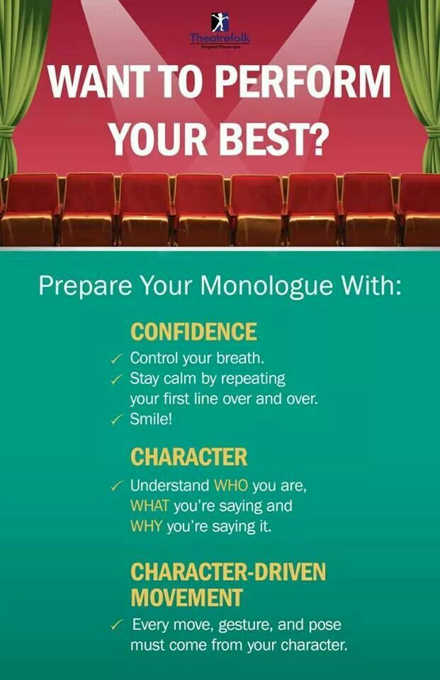 Monologue tips