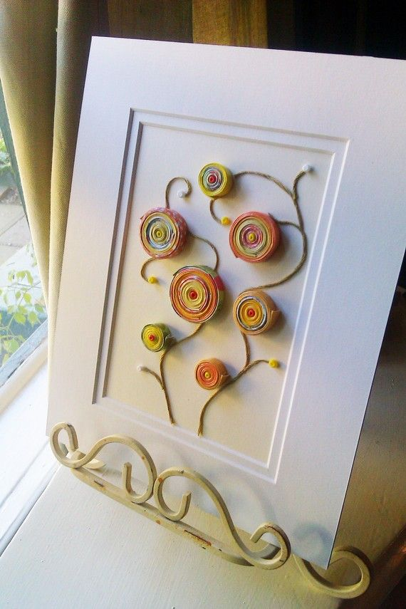 listing for a custom made paper coils artwork by ThePrettiesStore, $18.00