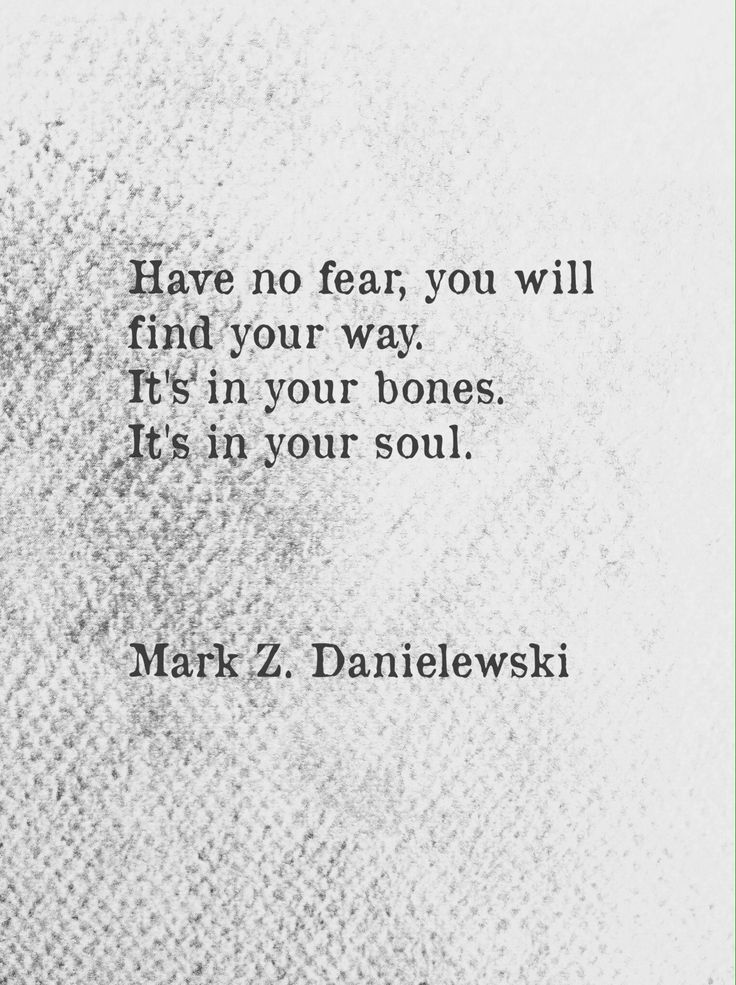 have no fear, you will find your way // mark z danielewski