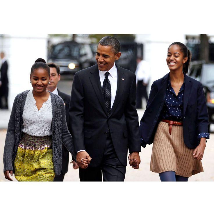 1) Barack Obama and Sasha and Malia - HarpersBAZAAR.com