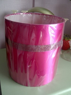 Hot CERISE PINK Diamante Satin Pendant Light or Lamp Shade NEW