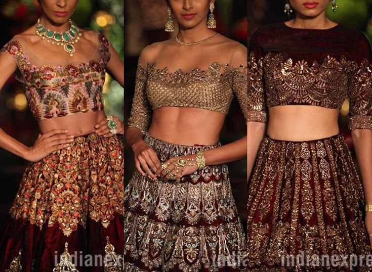 #IndiaCoutureWeek 2016 (July) Beautiful #Choli Blouses by @manishmalhotra ~