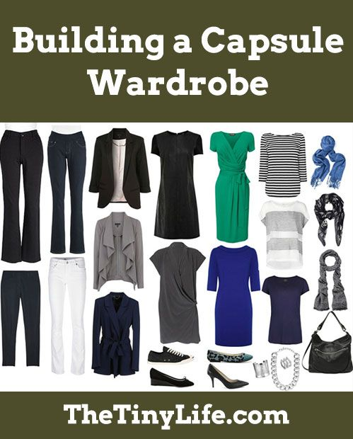 How to build a capsule wardrobe, with tips for women.