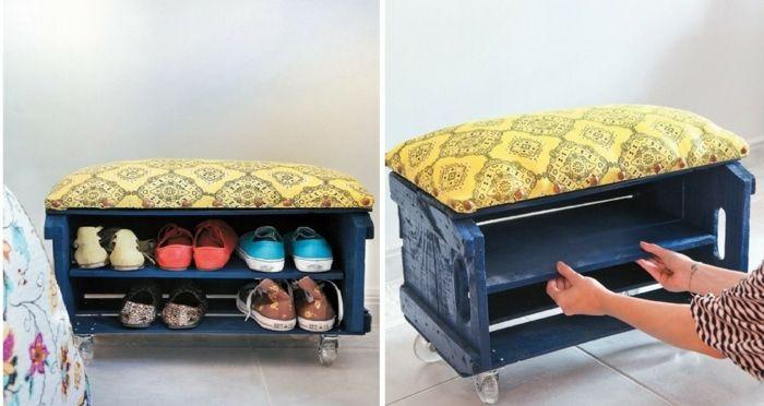 zapateros reciclados 1001 Ideas Sobre Decoracin Con Cajas De Fruta