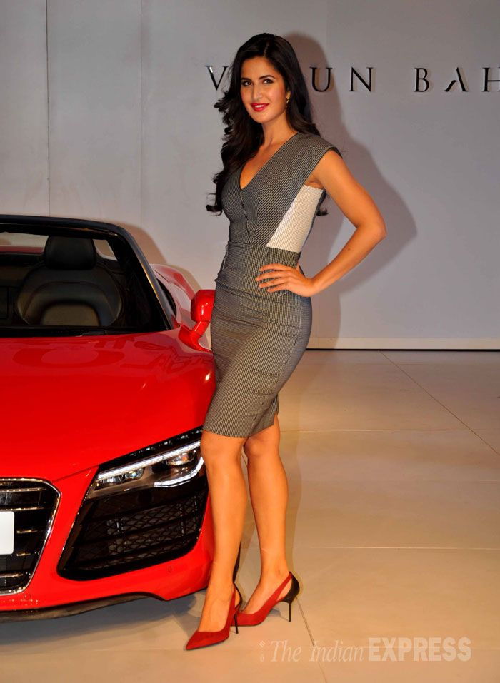 Katrina Kaif seen at Varun Bahl fashion show at Audi 2015 Autumn Collection…