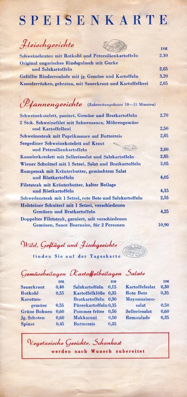 Mitropa Bahnhof Gaststätte DDR Berlin Ostbahnhof 1959 (Auszug)