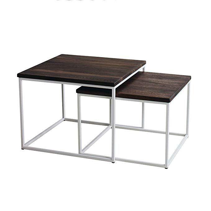 Amazon De 2er Set Couchtisch Msh Eiche Metall Beistelltisch Industiedesign Loft Vintage Sofatisch With Images Coffee Table Decor