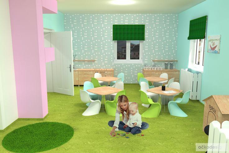 moderní designová mateřská školka - zajímavé interiéry, dětské pokoje