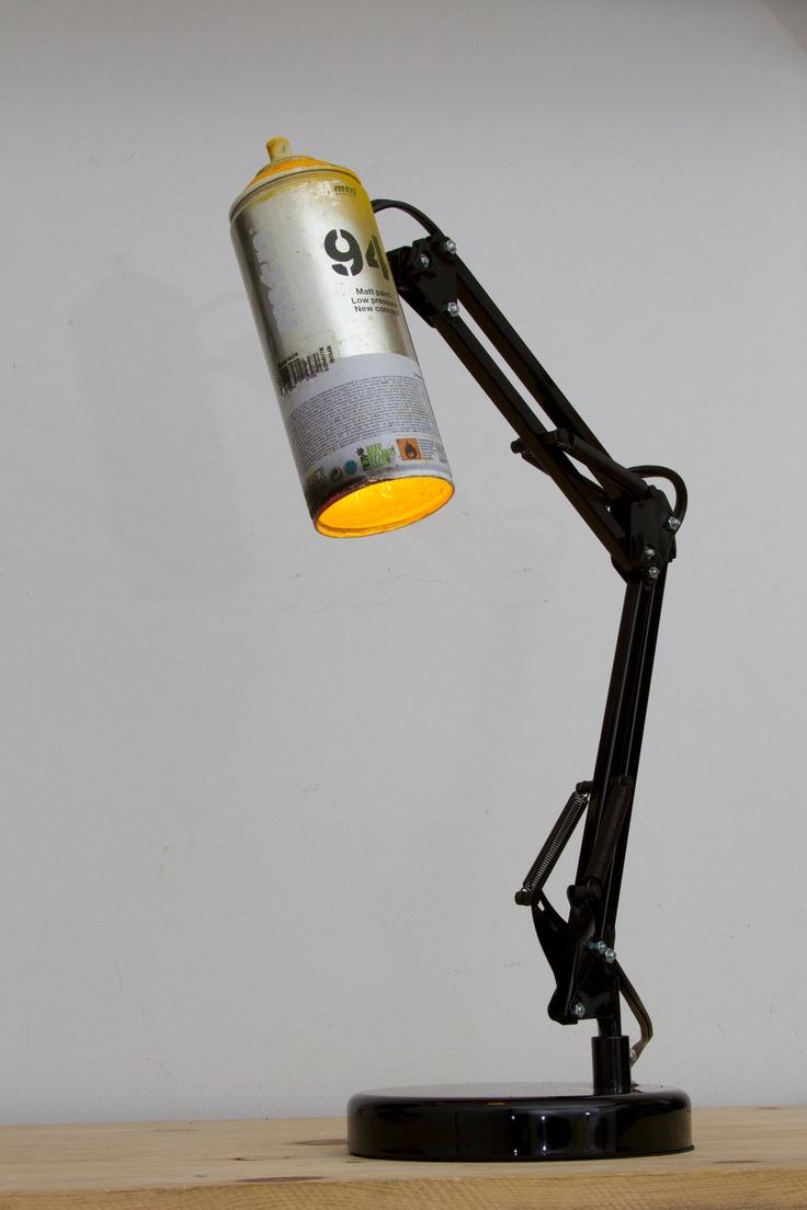 Reuse. #lamp #light #spraycan