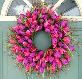 Tulips wreath