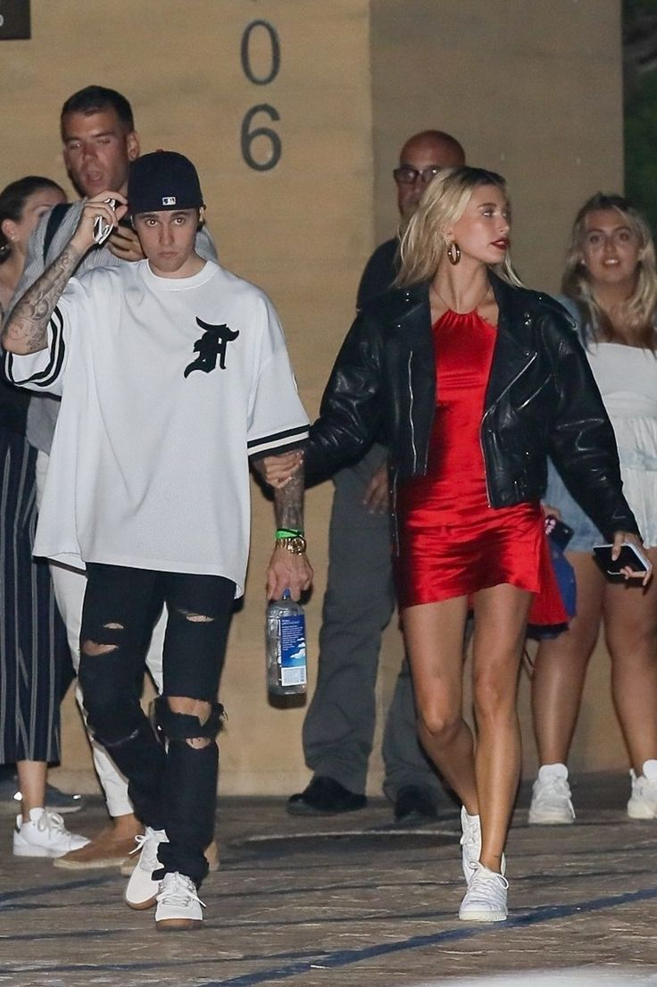 Hailey and Justin on a date in Malibu