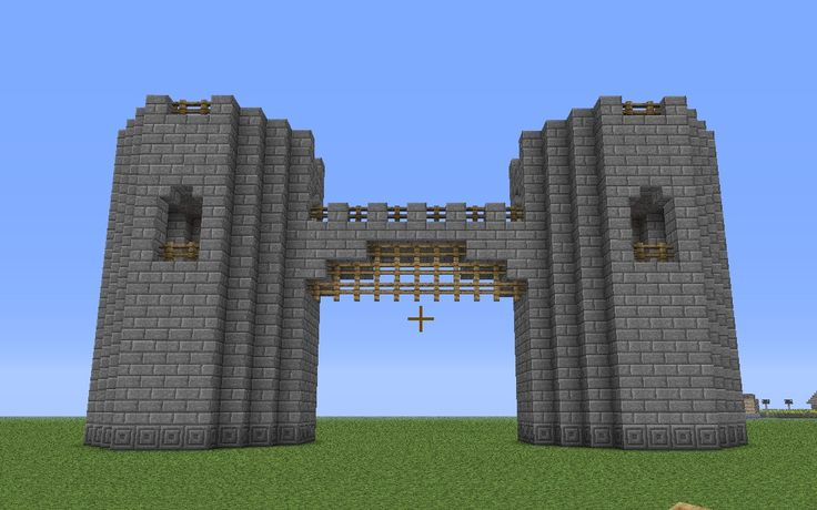 Minecraft castle wall exterior basic castle fortress for Minecraft exterior design ideas
