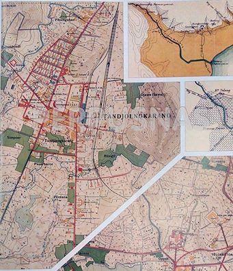 Info Berita Baru Terbaik: Peta Tatakota Tandjoengkarang (Lampung) tahun 1916...