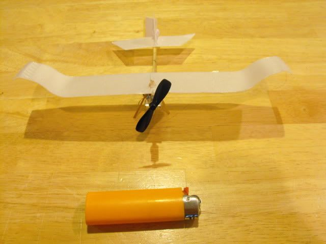 A Small Free Flight Or Rc Airplane With Wings Made From A