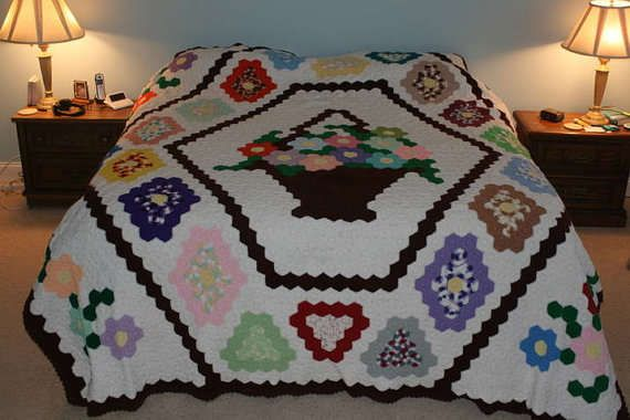 Etsy Crochet King Size Crochet Quilt Etsy Crochet