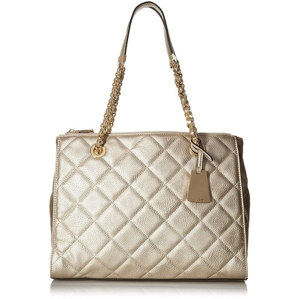 Aldo Katty Shoulder Handbag ($60) ❤ liked on Polyvore featuring bags, handbags, shoulder bags, quilted tote bags, aldo tote bags, aldo handbags, aldo purses and white tote bag