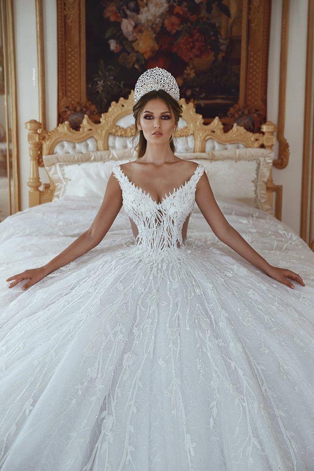 Luxus Brautkleider A Linie Weiss Prinzessin Brautkleider Gunstig Online Brautkleider Abiballkleide In 2020 Online Wedding Dress Wedding Dresses Princess Wedding Dresses