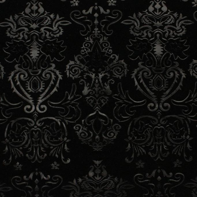 Royalty Embossed Stretch Velvet Purple Black Velvet Fabric Velvet Wallpaper Stretch Velvet