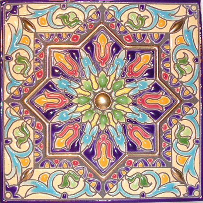 36 best grape art images on pinterest vines backyard for Spanish decorative tile
