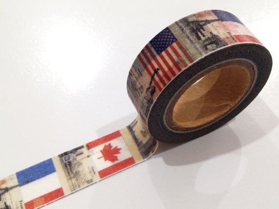 Japanese Washi Tape Vintage World Flag & Countries by afterninety