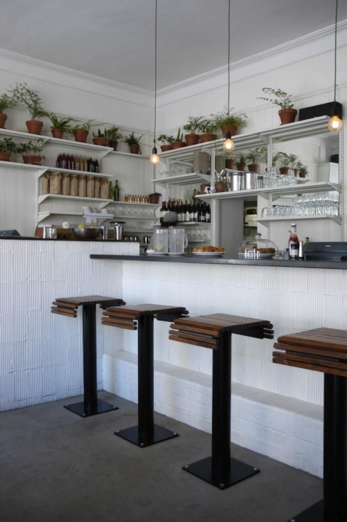 Clarkes of Cape Town Stools and Counter, Remodelista