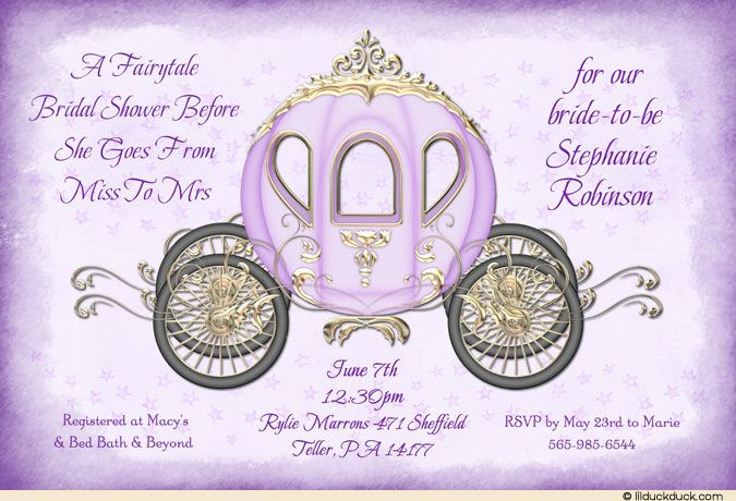 princess wedding shower ideas   Princess Bridal Shower Invitation - Starry-Eyed Bride Fairytale