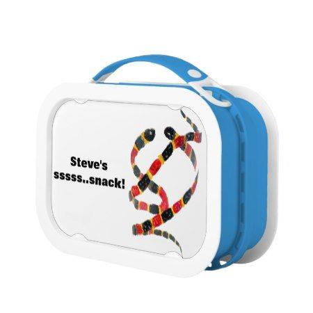 Coral Snakes Wildlife Art Personalized Lunch Box - tap to personalize and get yours