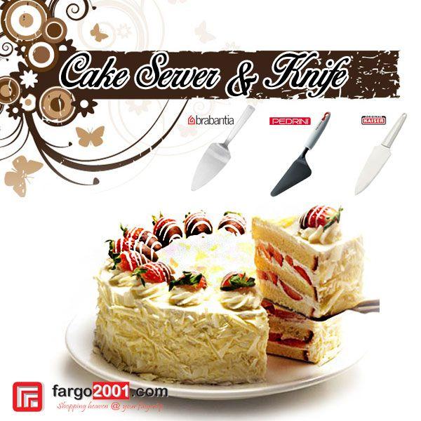Anda penggemar kue? Kesulitan saat memotong dan membagikan kue di hari ulang tahun? Pakai saja pisau dan alat penghidang kue dari fargo2001.com ! Memotong dan membagikan kue akan jauh lebih mudah ! http://fargo2001.com/index.php?route=product%2Fsearch&search=cake