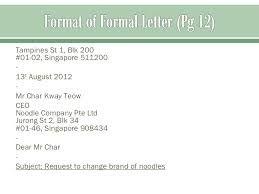 Image result for formal letter format singapore