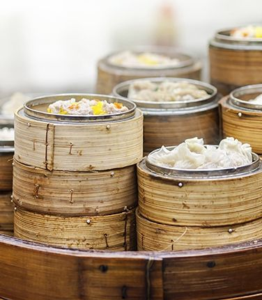 Top off your homemade lunch at Guangzhou's Ou Cheng Ji Noodle Restaurant with traditional Cantonese dumplings.