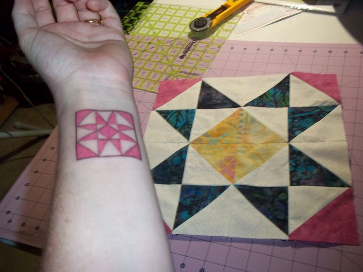 39 best Quilt Tattoo images on Pinterest | Tattoo ideas, Body mods ... : quilt square tattoo - Adamdwight.com