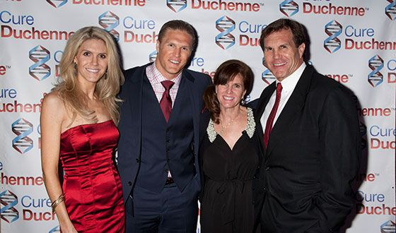 Special guests at the Champions to CureDuchenne Newport Beach Gala  included  the Matthews Family  Jennifer, Clay Matthews III, Leslie and Clay Matthews Jr.